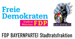 FDP BAYERNPARTEI Stadtratsfraktion München Logo