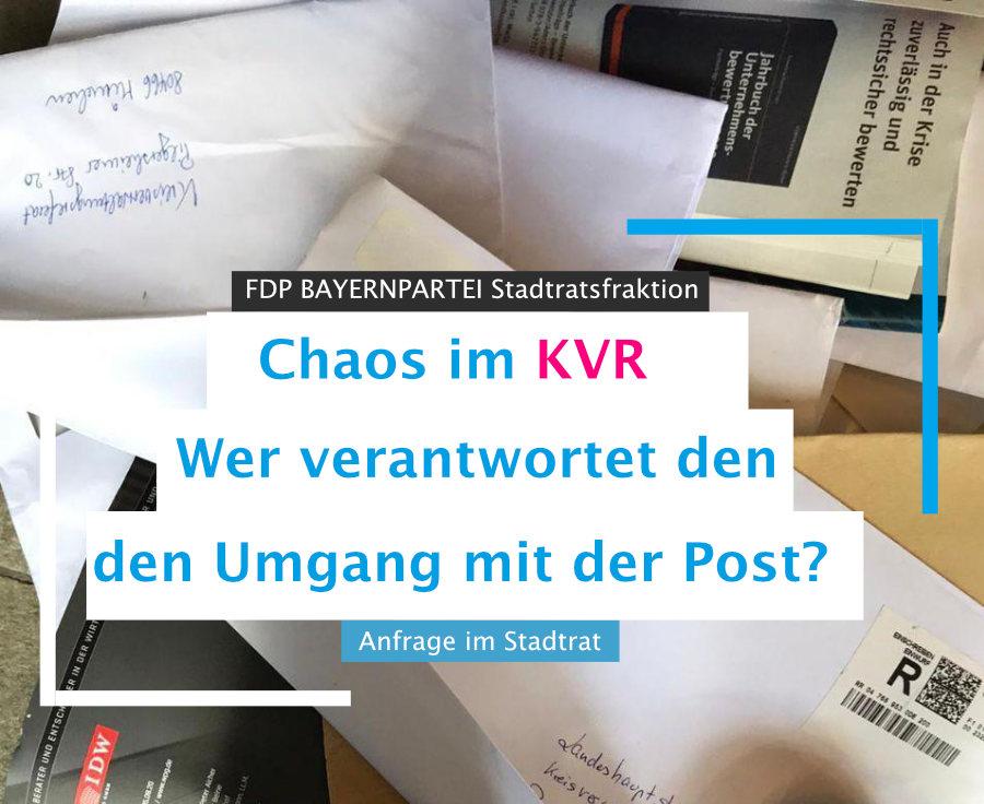 Chaos im KVR Anfrage im Stadtrat FDP BAYERNPARTEI