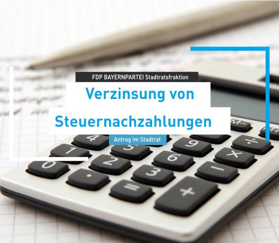 Antrag Verzinsung von Steuernachzahlungen