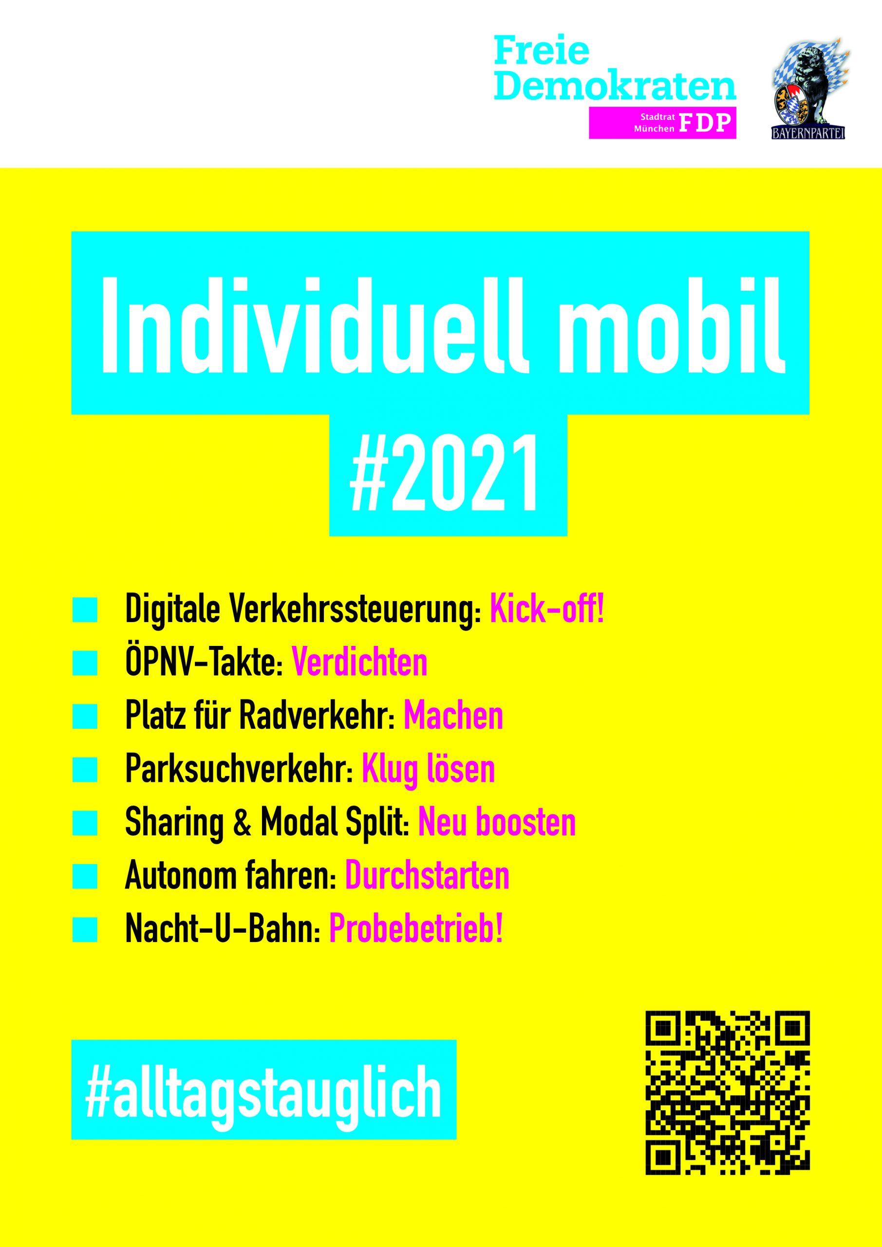 # Individuell mobil 2021 FDP BAYERNPARTEI Stadtratsfraktion München