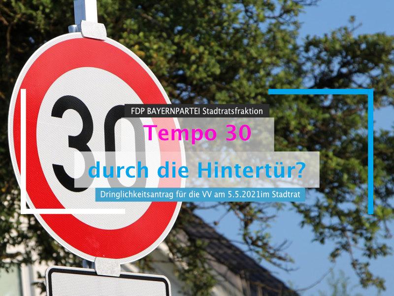 Tempo 30 durch die Hintertür: wann kommt endlich das Machtwort des Oberbürgermeisters?